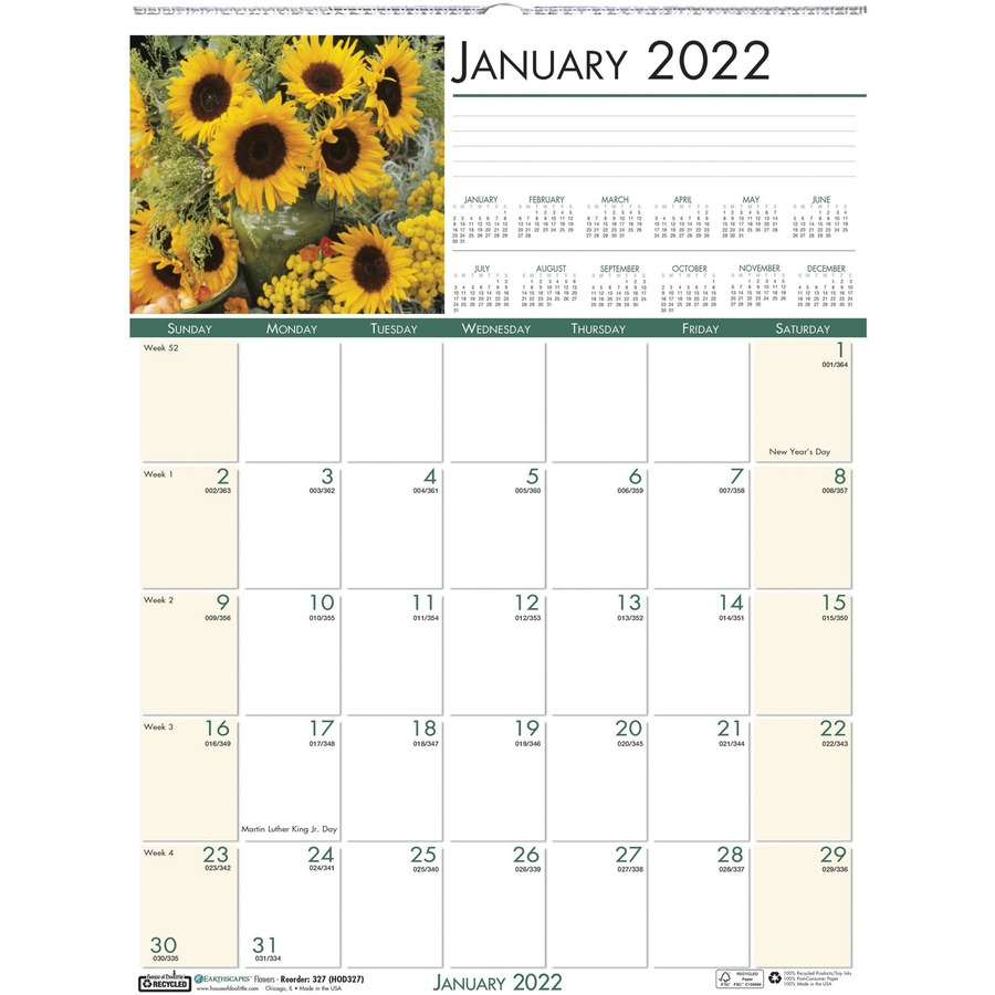 hod327 - house of doolittle earthscapes flowers photo wall calendar - yes