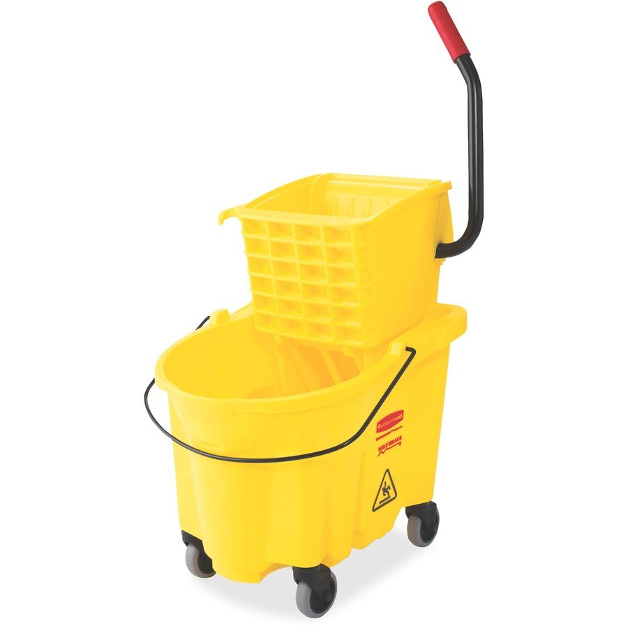 Rubbermaid Commercial Wave Brake Side Press Mop Bucket