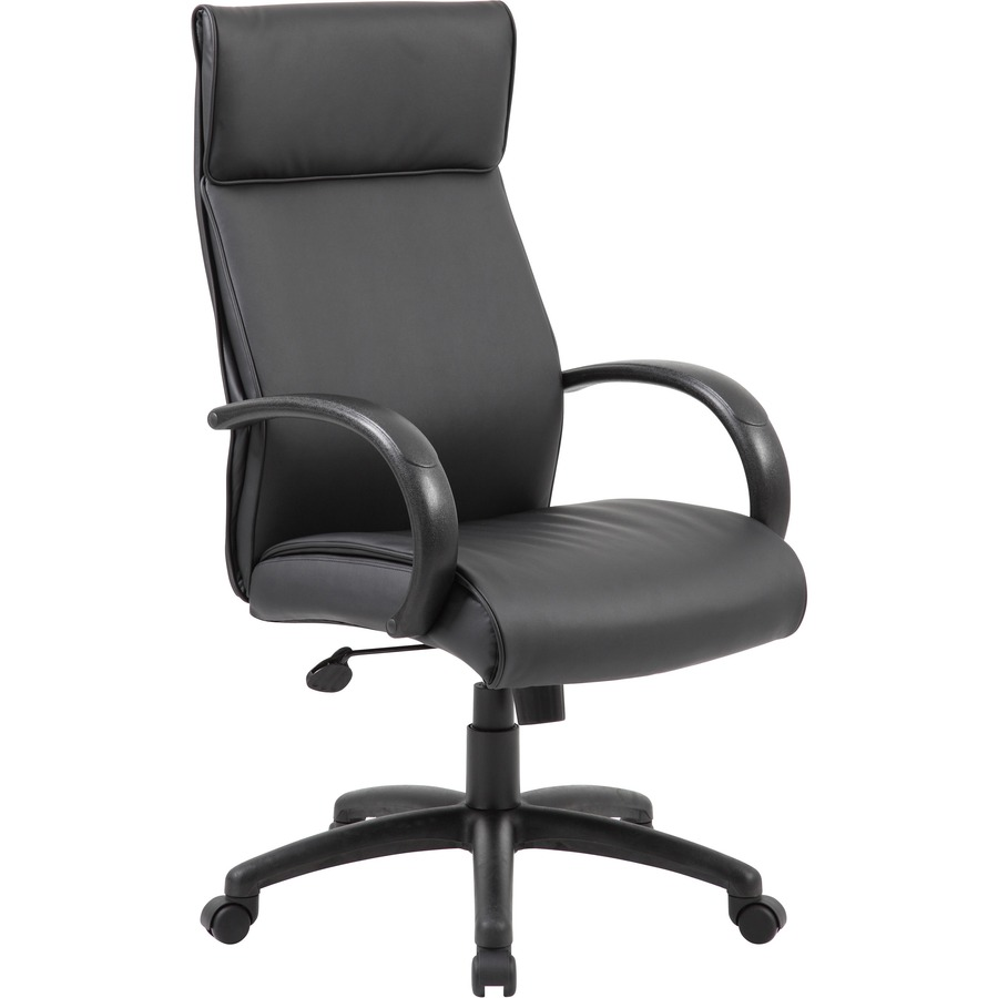 Boss High Back Executive Chair With Coil Spring Black Frame