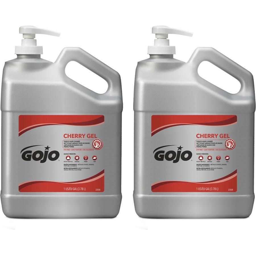 Bulk Gojo Gallon Pump Cherry Gel Pumice Hand Cleaner