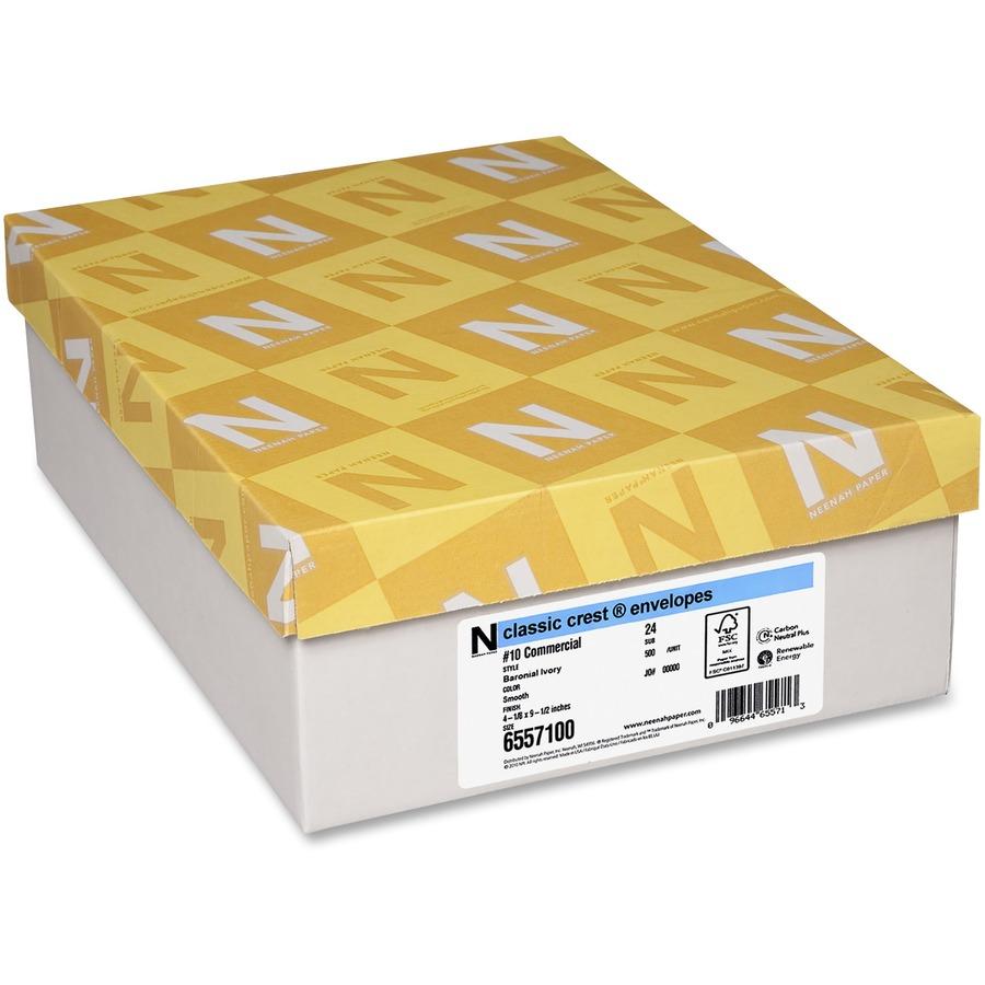 Clic Crest Commercial Flap Envelopes Nee6557100