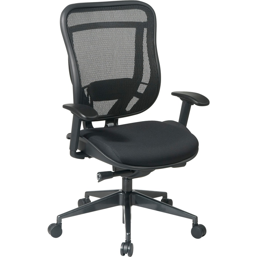 Space Seating Executive High Back Chair With Breathable Mesh Back And Black  Mesh Seat OSP81831G9C5811
