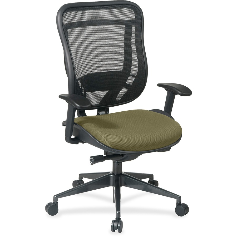 Space Seating Executive High Back Chair With Breathable Mesh Back And Black Mesh Seat