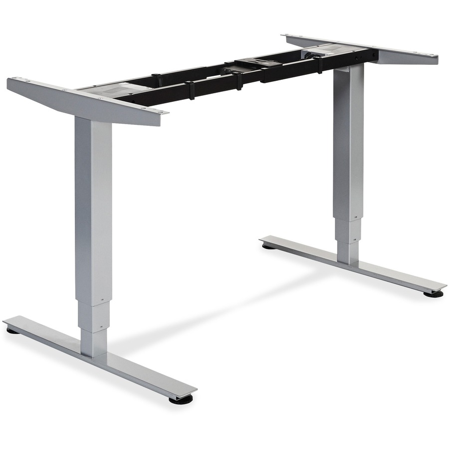 Lorell Electric Height Adjule Sit Stand Desk Frame 2 Legs 50 X 26 60 Width 44 25 Depth Assembly Required Silver