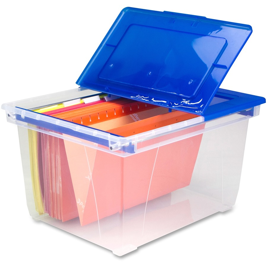 X Stackable Heavy Duty File Tote External Dimensions 15 6 Width 19 3 Depth 10 9 Height 50 Lb Media Size Supported Letter Legal Flip Top