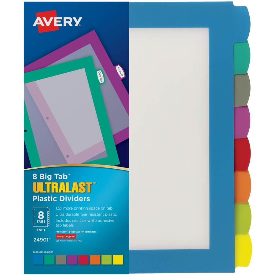 Avery® Big Tab Ultralast Plastic Dividers