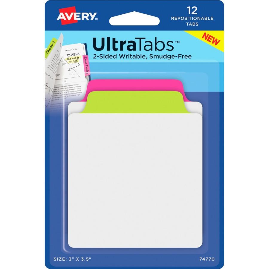 Averyu0026reg UltraTabs Repositionable Tab U0026 Note AVE74770