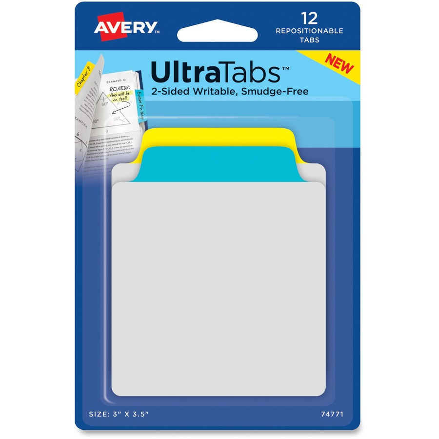 Bon Averyu0026reg UltraTabs Repositionable Tab U0026 Note AVE74771