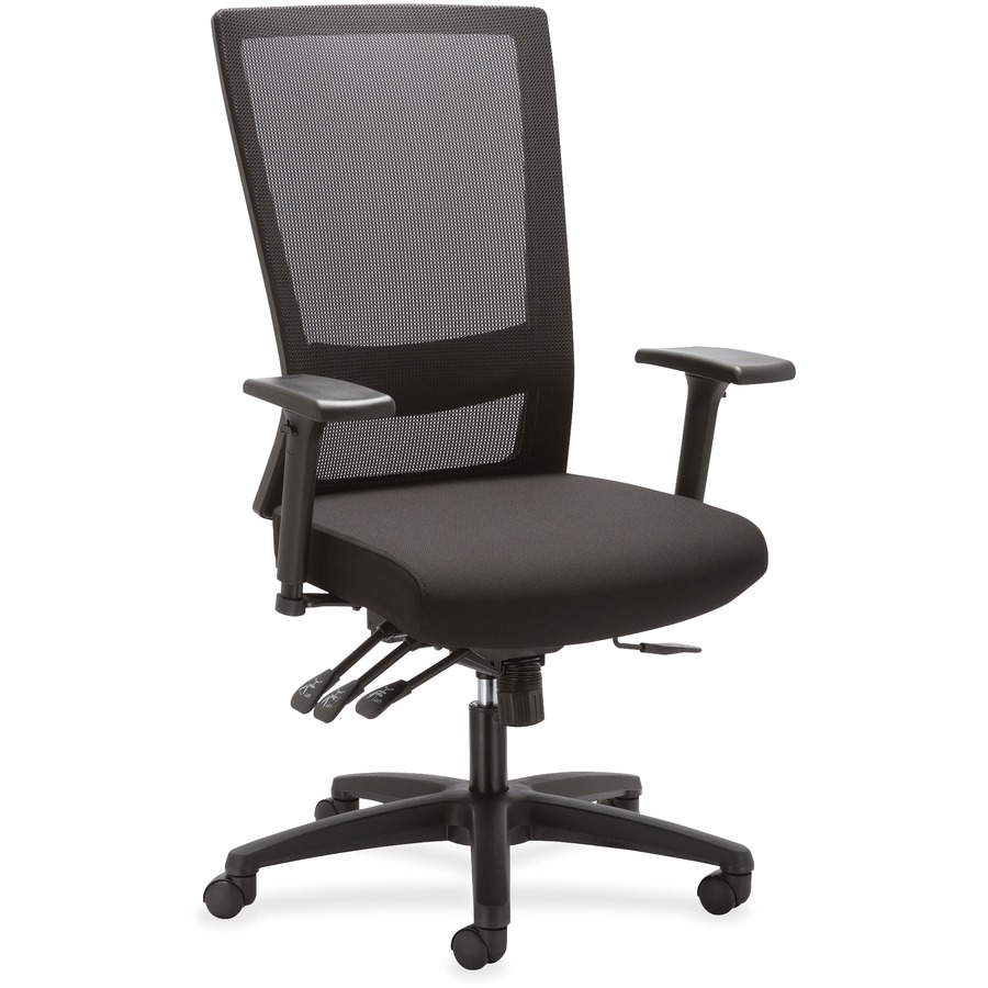office chair controls. Lorell Asynch Control High-back Mesh Chair LLR54855 Office Controls T