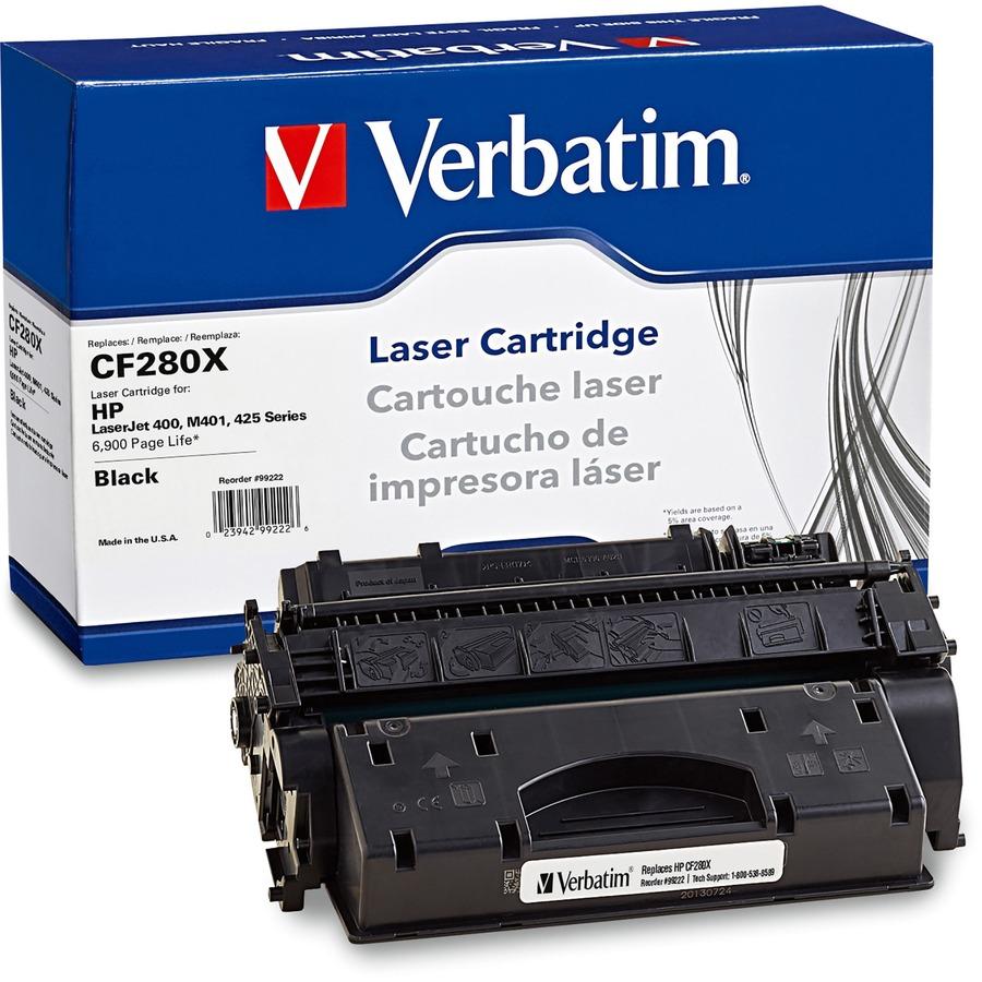 verbatim remanufactured laser toner cartridge alternative for hp cf280x. Black Bedroom Furniture Sets. Home Design Ideas
