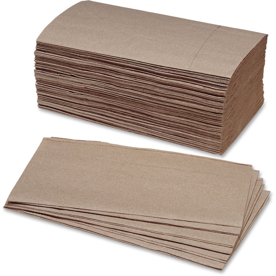 Nsn2627178 Skilcraft Single Fold Kraft Paper Towels Single Fold Kraft Paper Eco Friendly Chlorine Free For Bathroom 250 Per Bundle 4000 Box Office Supply Hut