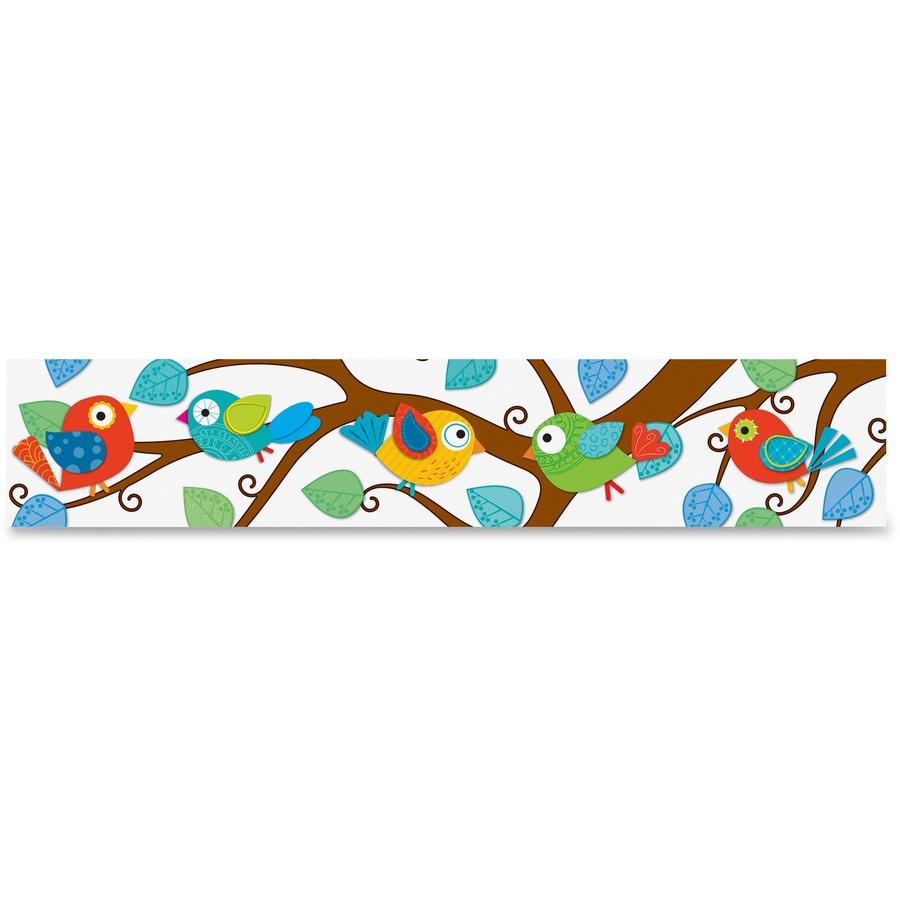 Cdp108149 Carson Dellosa Boho Birds Design Bulletin Border