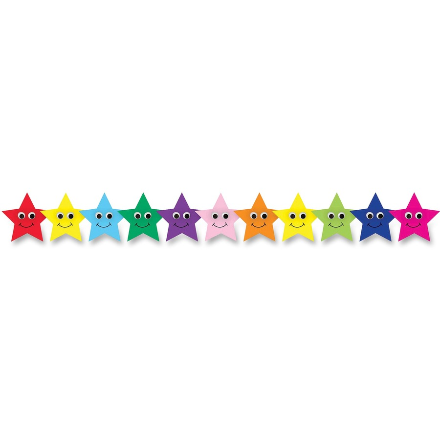 HYX33655 - Hygloss Colorful Happy Stars Border Strips ...