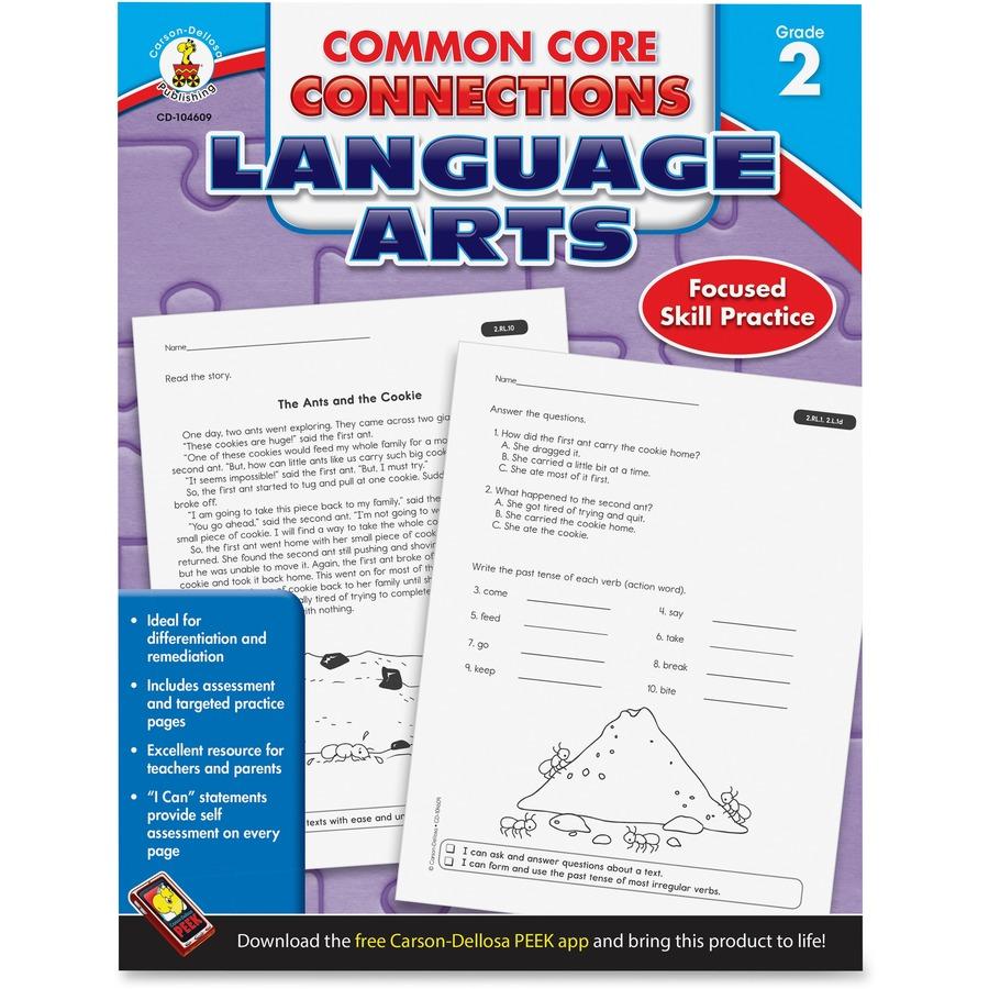 Carson-Dellosa CCC Grade 2 Language Arts Workbook Learning Printed ...