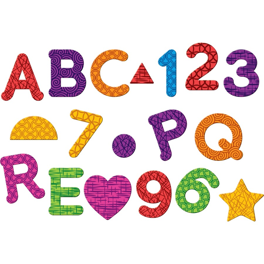 Learning Resources Magnetic Numbers Letters/Shapes Set - Theme/Subject:  Learning - Skill Learning: Letter Recognition, Number Recognition, Shape,