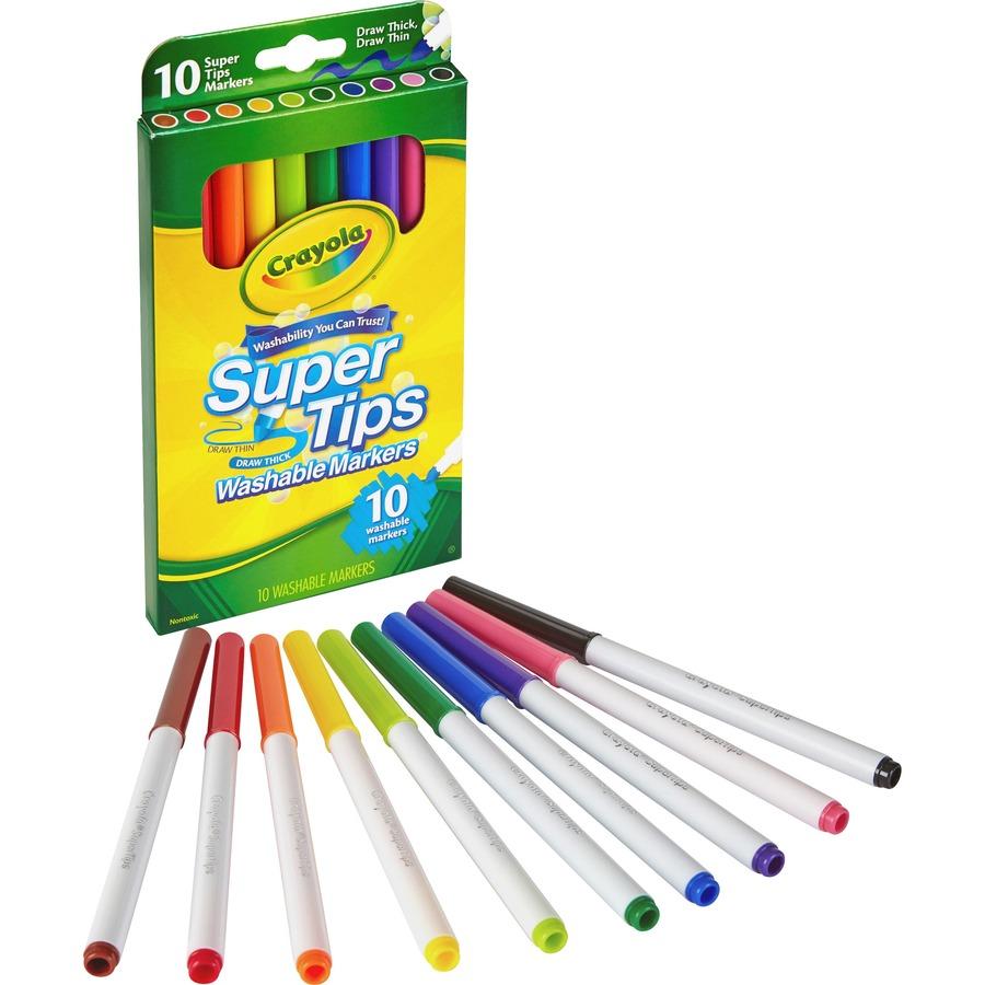 Crayola Super Tips 10 Color Washable Markers Cyo588610