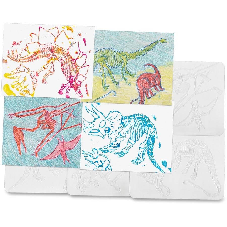 Roylco Dinosaur Shape Rubbing Plates Rylr5823