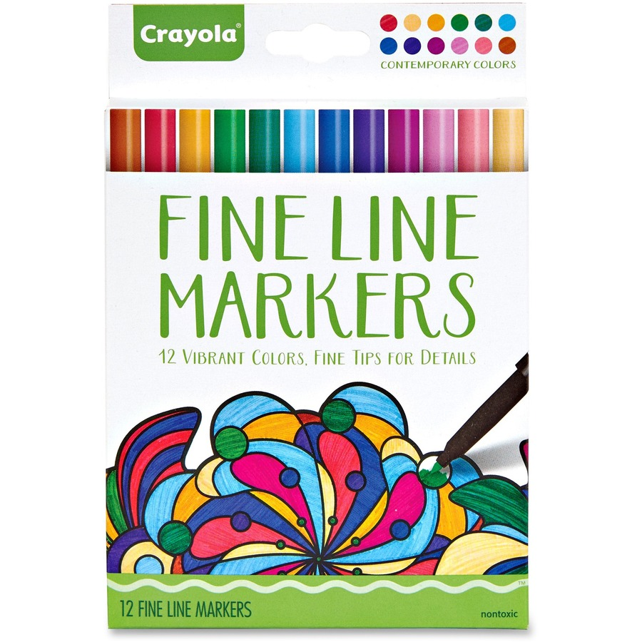 Crayola Contemporary Colors Fine Line Markers Set - Direct Office Buys