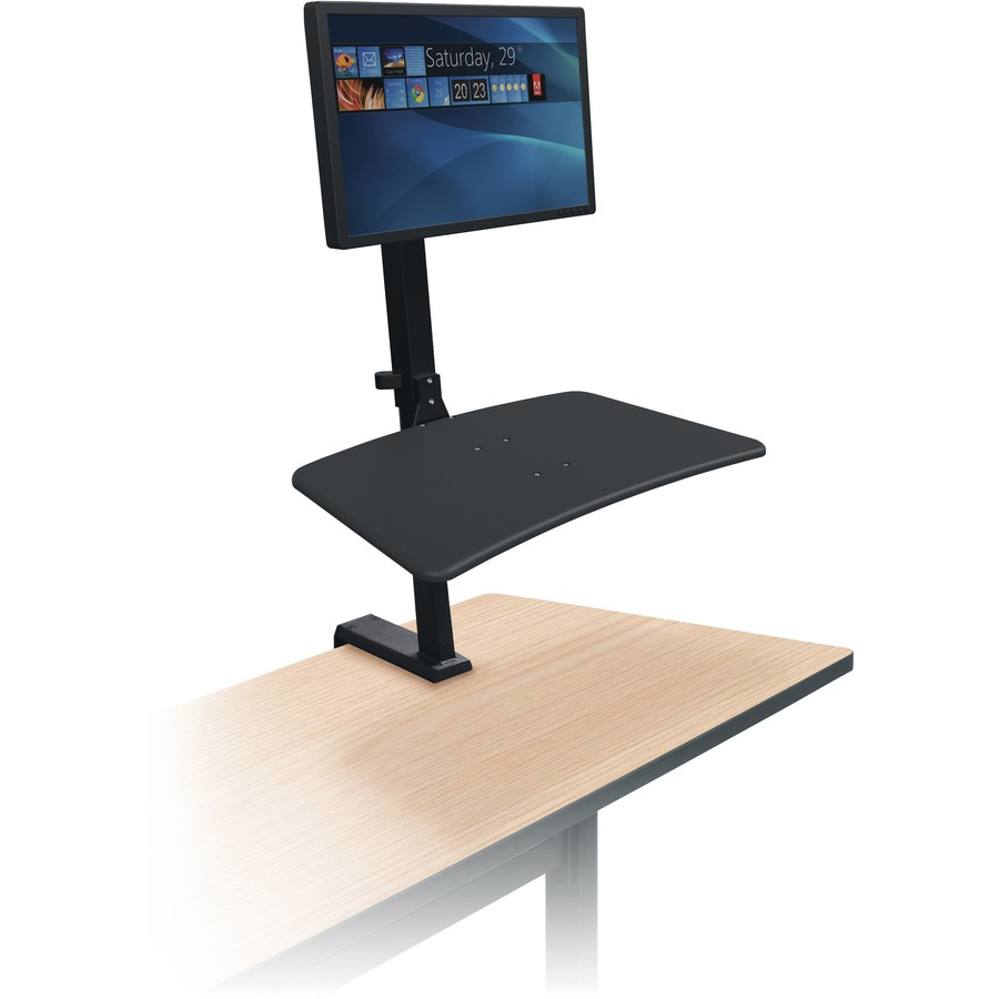 Excellent Mooreco Up Rite Desk Mount For Monitor Notebook Tablet Keyboard Mouse Desktop Computer Black 1 Display S Supported 15 Lb Load Capacity Gmtry Best Dining Table And Chair Ideas Images Gmtryco