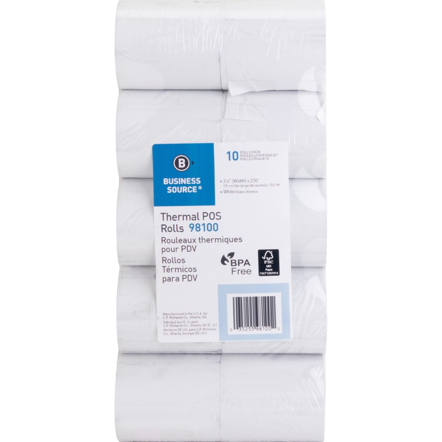 Business Source Thermal Paper - 3 1/8