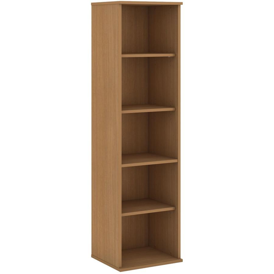 Bush Business Furniture 66h 5 Shelf Narrow Bookcase