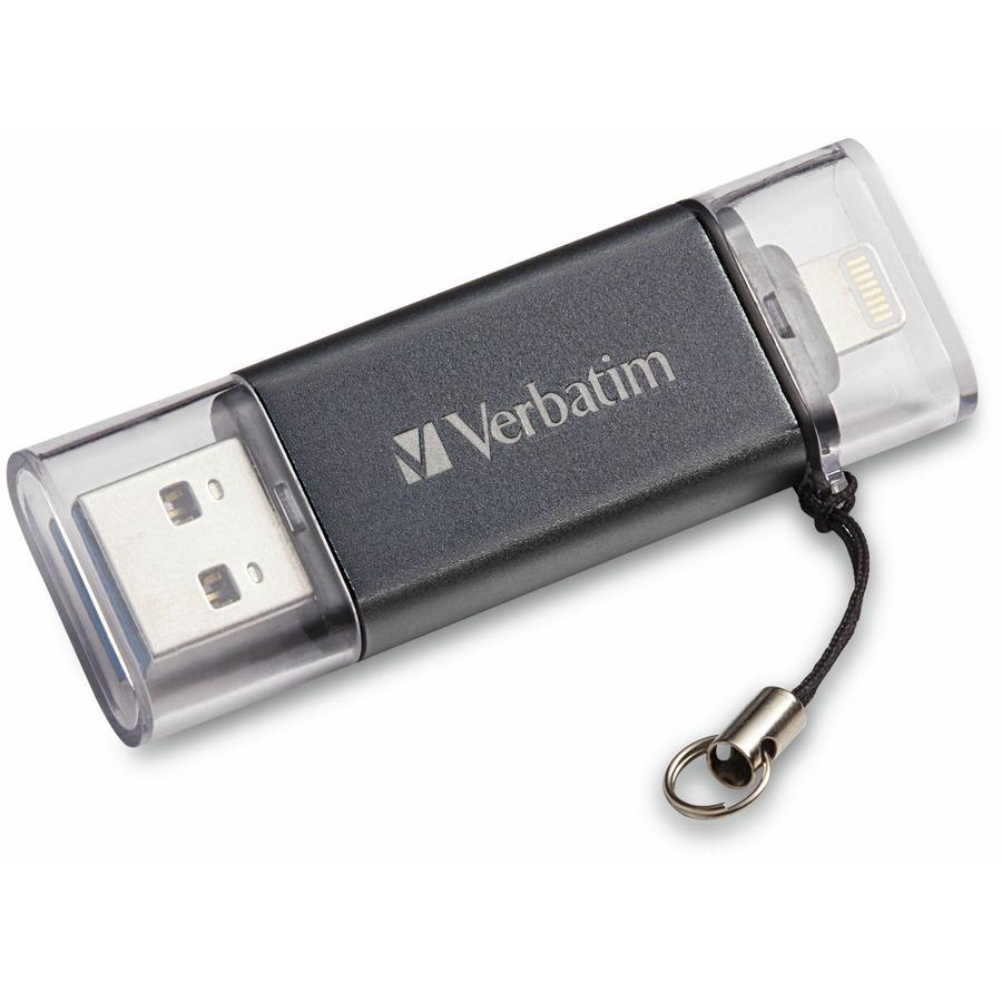 270b0e96ba2 Verbatim Store 'n' Go Dual USB 3.0 Flash Drive - 32GB- Lightning ...