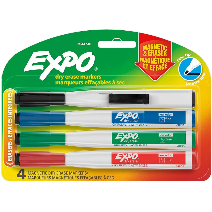 Expo Eraser Cap Fine Magnetic Dry Erase Markers SAN1944746