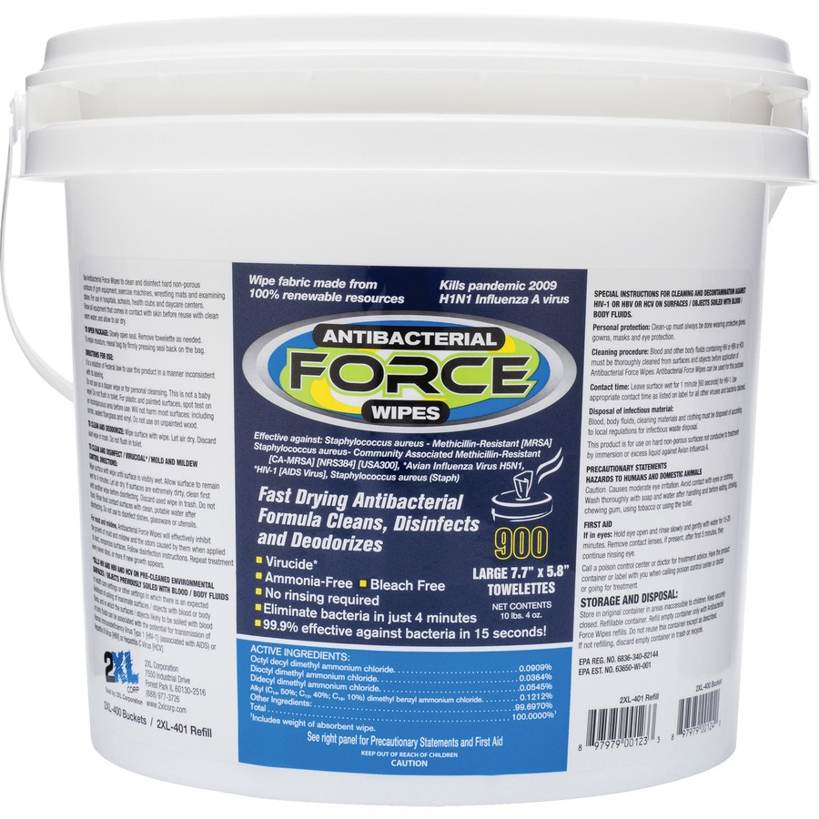 53f01227fd12 2XL Antibacterial Force Wipes Dispensing Bucket - 123 Office Solution