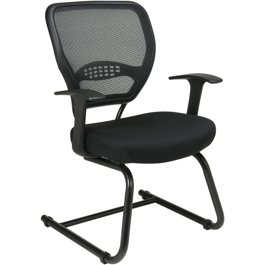 Space Seating Professional Dark Air Grid Back Visitors Chair With Custom  Fabric Seat OSP557V30018
