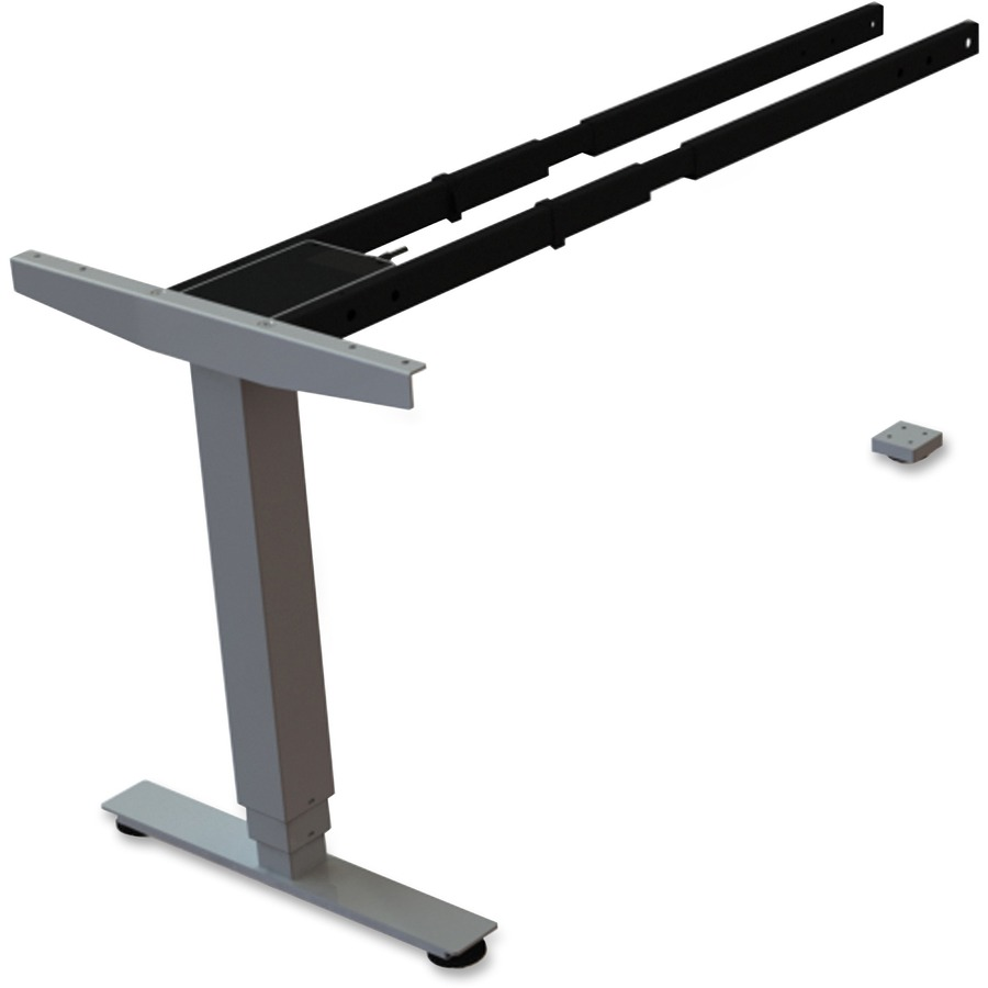 Lorell Sit Stand Desk Silver Third Leg Add On Kit