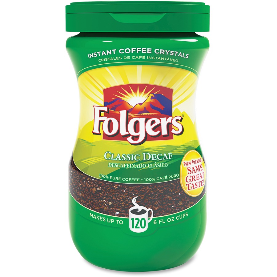 Wholesale Folgers Classic Decaf Instant Coffee Crystals