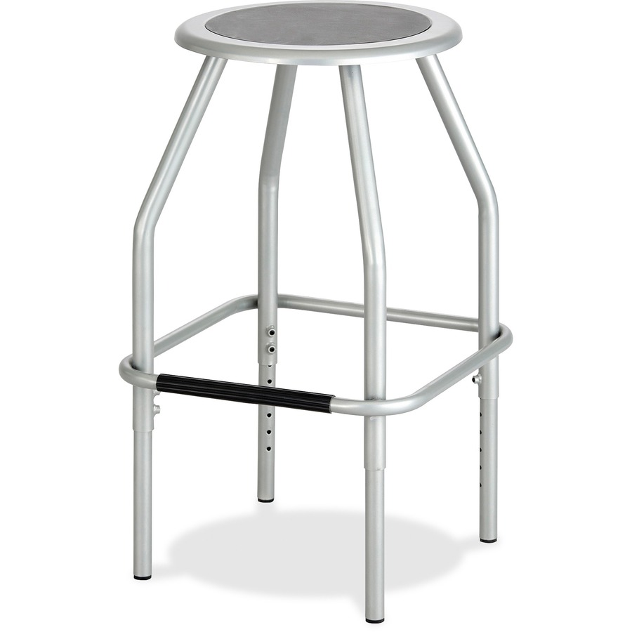 Astounding Safco Diesel Adjustable Height Steel Stool Polyurethane Seat Powder Coated Steel Silver Frame Four Legged Base Silver 17 5 Width X 17 5 Cjindustries Chair Design For Home Cjindustriesco