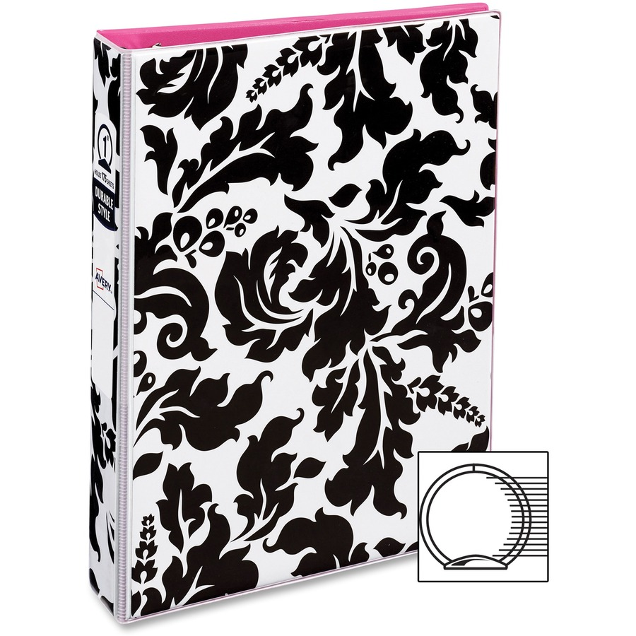 avery 5 1 2 x 8 1 2 mini durable style binders with round rings