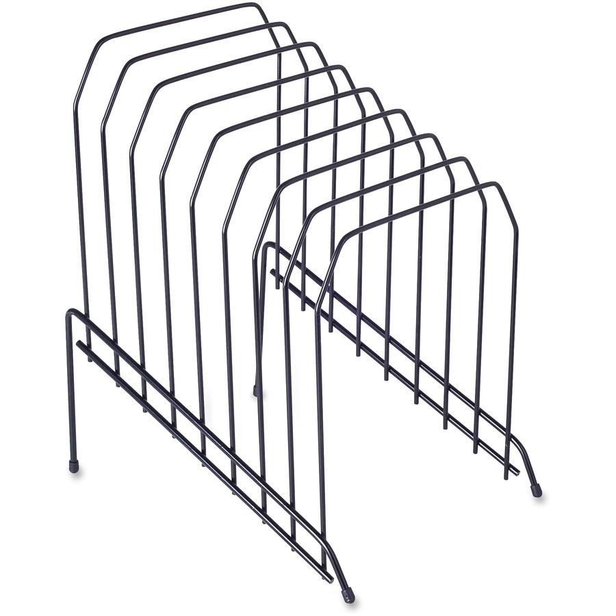 Lorell Wire Vertical File 8 Divider S Desktop Black 1each