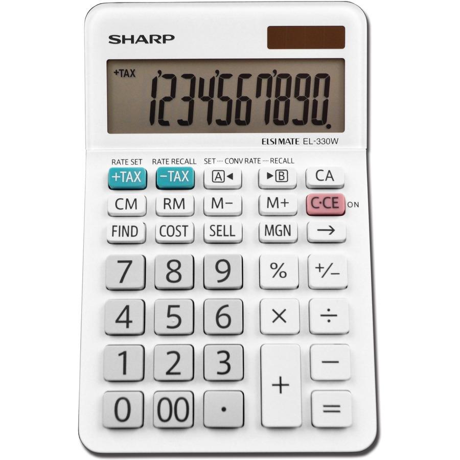 Sharp El 330wb 10 Digit Professional Desktop Calculator 123 Office