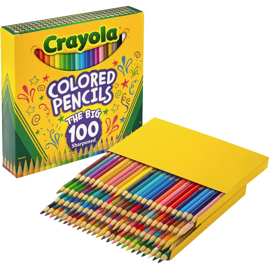 Crayola Colored Pencils Long 12 In A Pack Pack of 12 144 Pencils Total