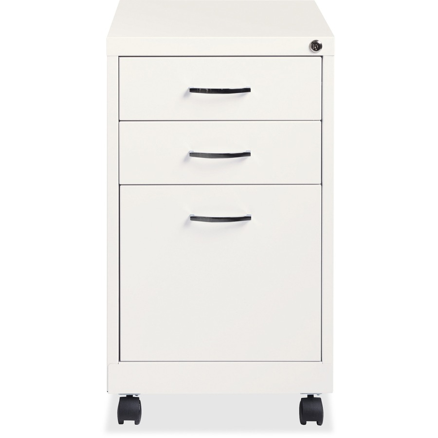 Beau Lorell White 3 Drawer Mobile Pedestal File LLR21028