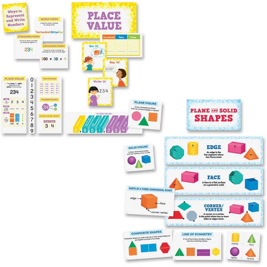 Creative Teaching Press Place Value Shapes Bulletin Board Sets