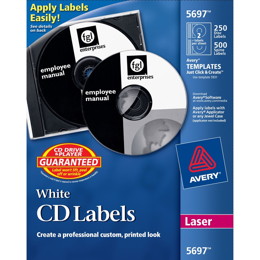 Avery cd dvd and jewel case spine label for Avery disc labels