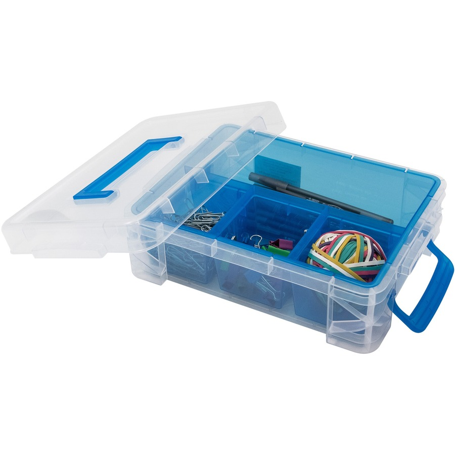 Advantus 4 Compartment Plastic Supply Box AVT37376
