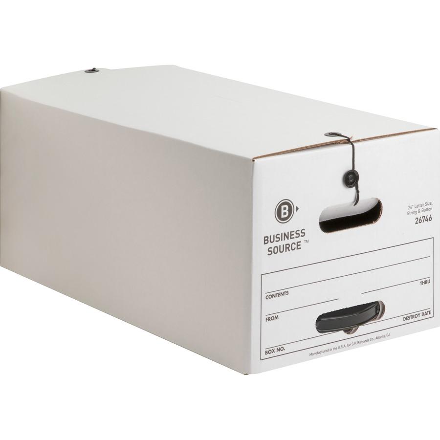 Business Source Medium Duty Letter Size Storage Box - Internal Dimensions:  12