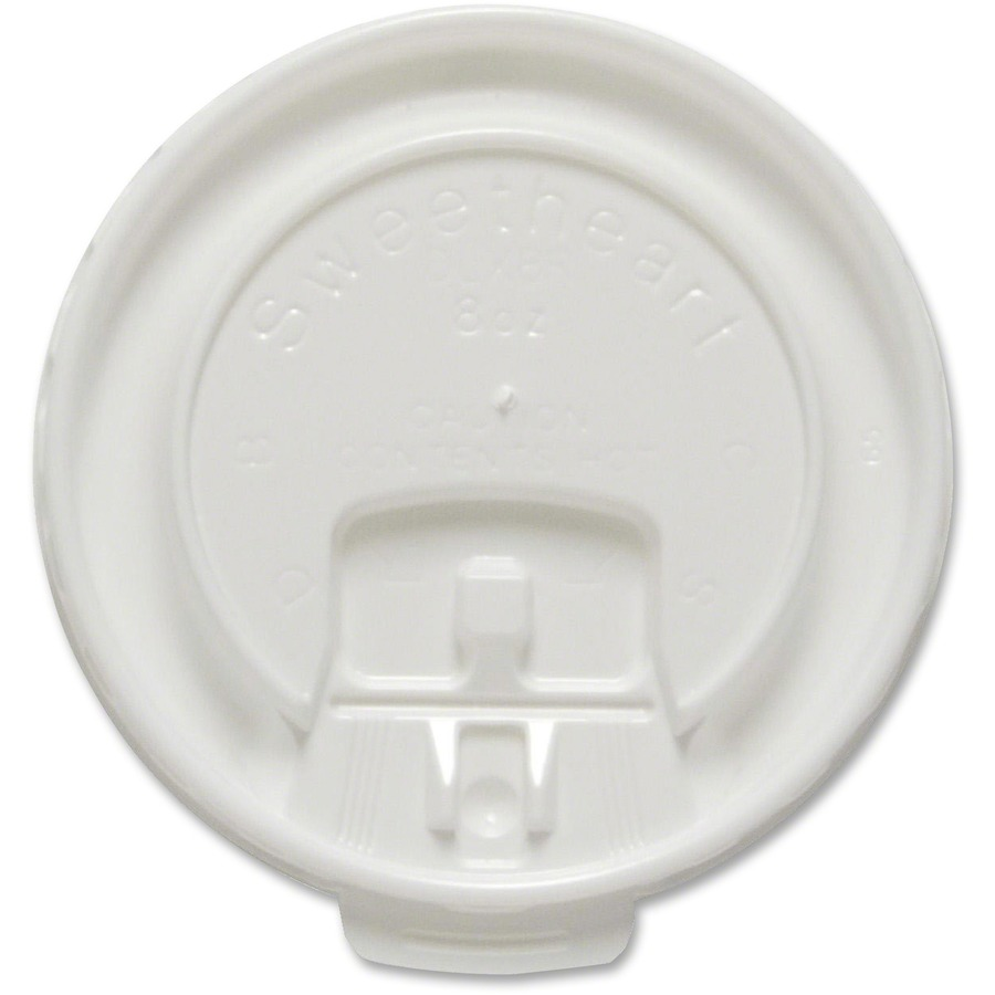 Solo Cup Scored Tab 8 Oz Hot Cup Lids 100 Pack White Direct