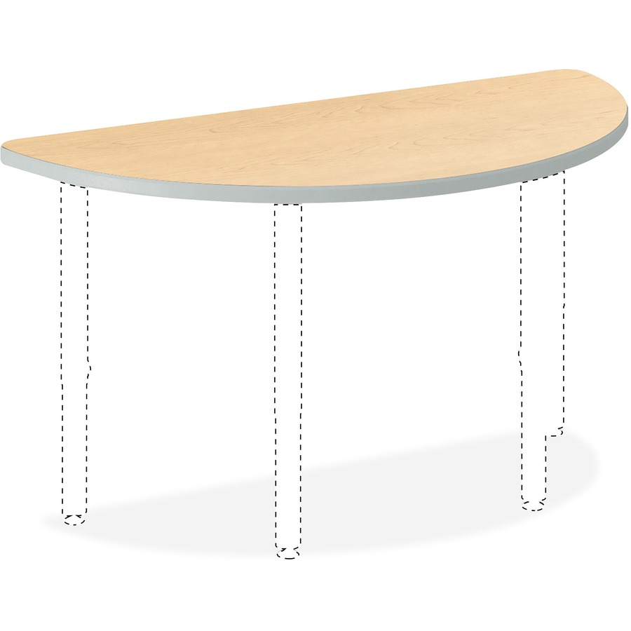 Cool Hon Build Half Round Table 60W X 30D Natural Maple Laminate Thermofused Laminate Tfl Half Round Top 30 Table Top Width X 60 Table Top Depth Download Free Architecture Designs Rallybritishbridgeorg
