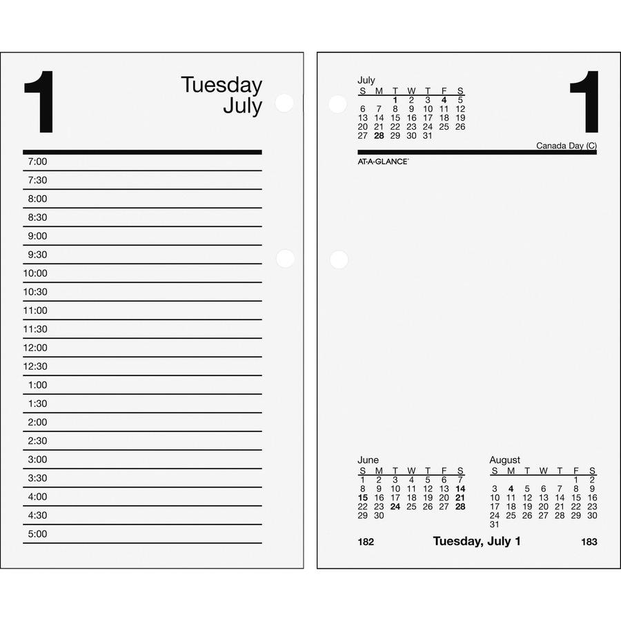 At A Glance Loose Leaf Daily Desk Calendar Refill Urban Office