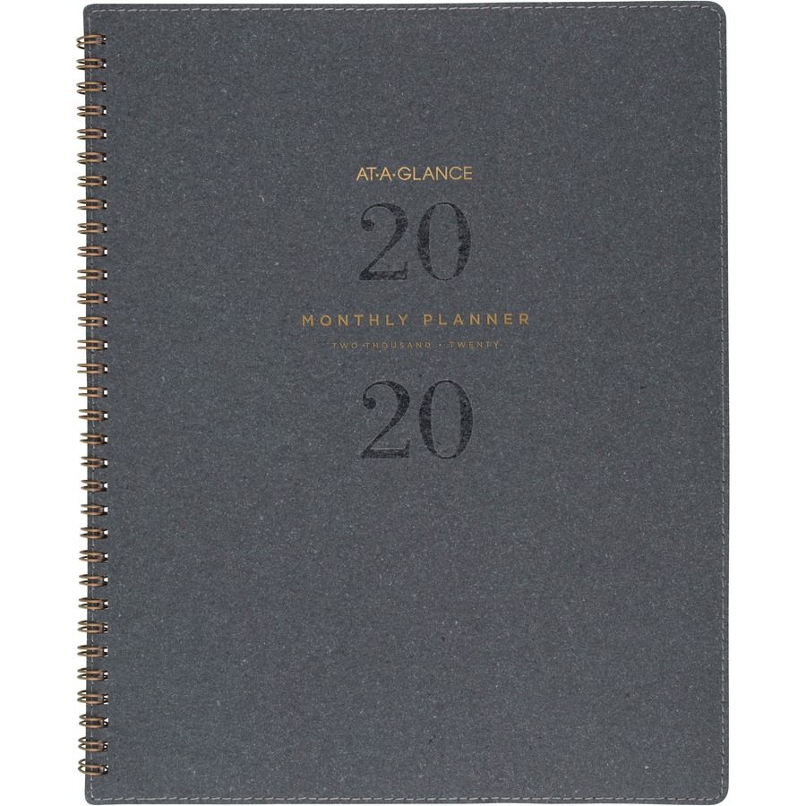 At A Glance Signature Collection Monthly Planner Gray