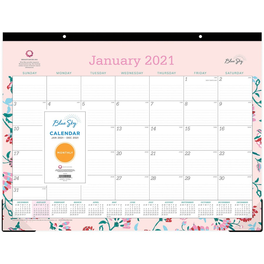 Blue Sky Breast Cancer Awareness Desk Pad Icc Business Products