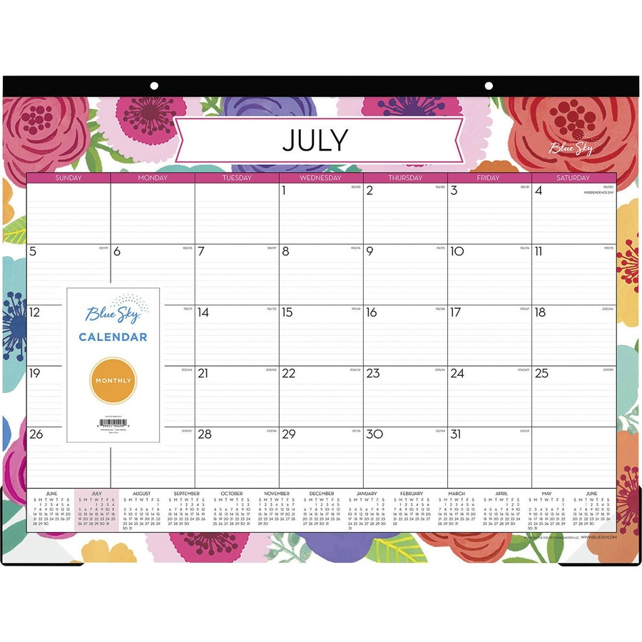 Blue Sky Mahalo Monthly Desk Pad Mac Papers Inc