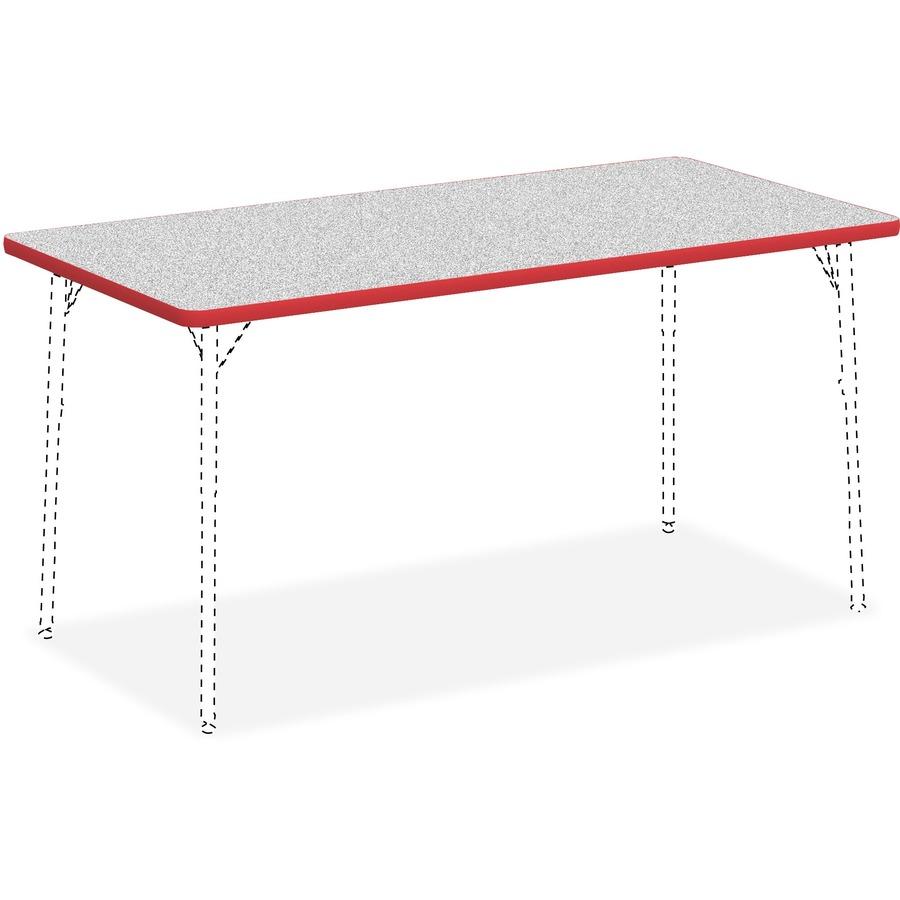 Lorell Classroom Rectangular Activity Tabletop - Lorell flipper training table