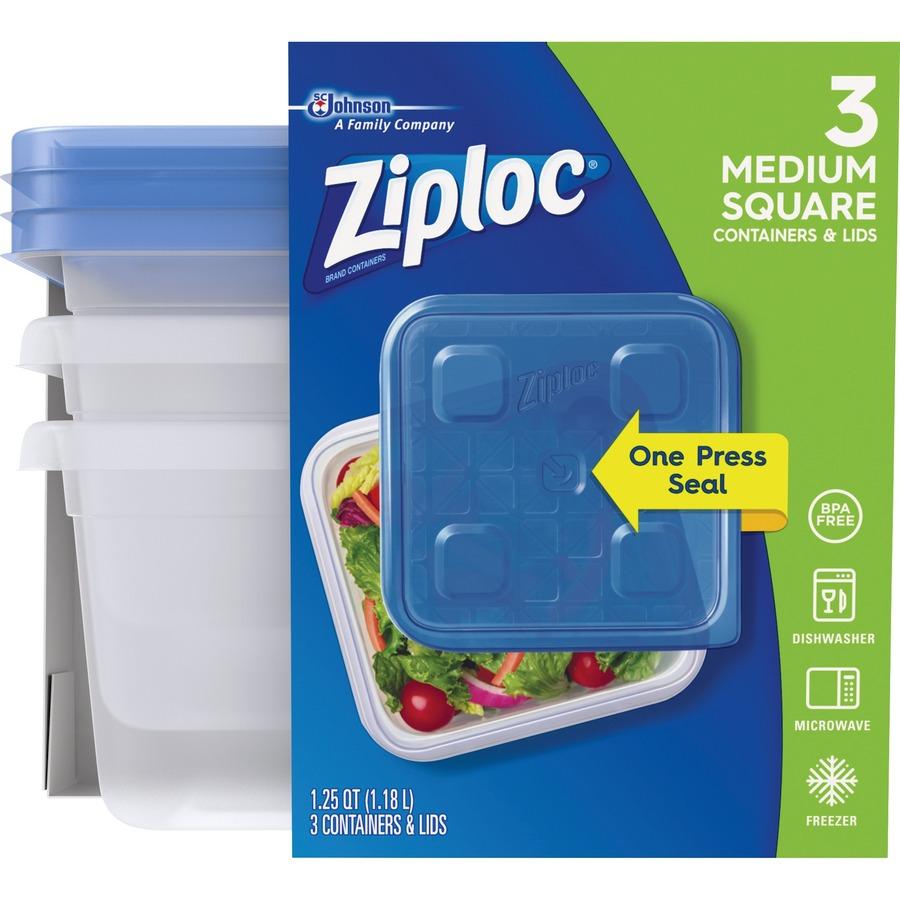 1633f5b02f8 Ziploc Food Storage Container Set - Mac Papers Inc