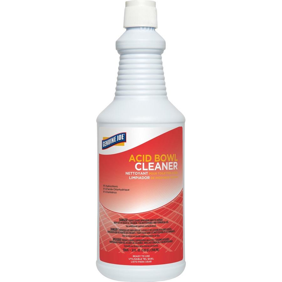 Genuine Joe Acid Bowl Cleaner - Ready-To-Use Liquid - 0 25 gal (32 fl oz) -  1 Each - Aqua Marine